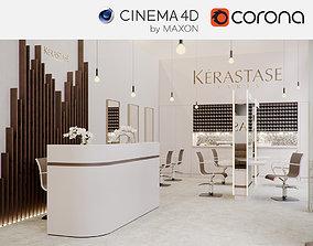 Corona - C4D Scene files - Salon Scene 3D model