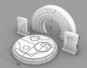 3D print model Ancient alien sci-fi building set
