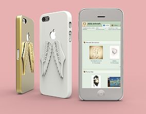 3D print model iPhone 5 Angel Wings case
