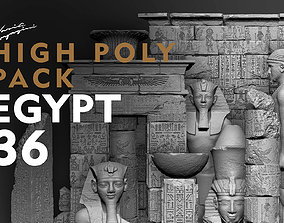 3D print model Egypt Environment Assets High Poly
