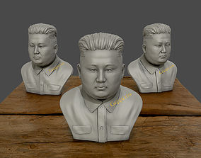 3D Sculpture of Kim Jong un 3D print model 3D print