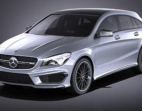Mercedes-Benz CLA AMG Shooting Brake 2017 VRAY 3D