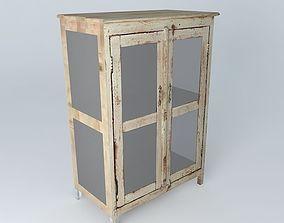 white cabinet AVIGNON houses the world 3D