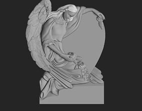 3D printable model figurine monument with angel