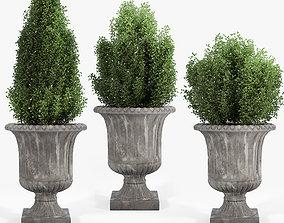 3D model Crawfordsland Metal Pot Planter 02