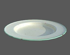 3D asset Rusty plate