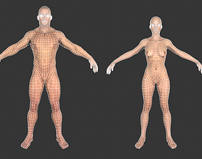 3D model Low poly Base meshes Male and Female