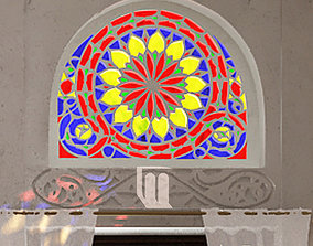 3D model Yemeni Qamaria stained glasses windows