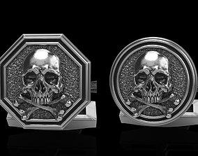 3D skull cufflinks 2