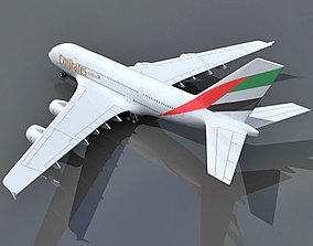 3D Emirates Airlines Model Airbus A380