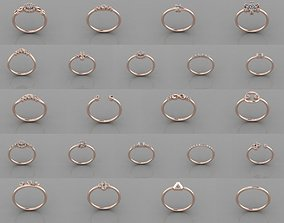 26pcs rings 3D model