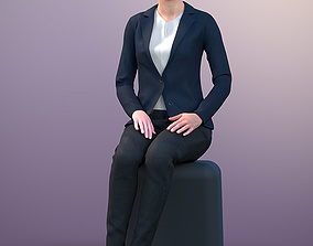 Ina 20013-04 - Animated Sitting Business Woman 3D model