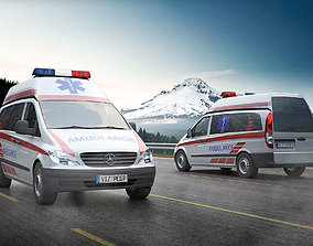 3D Ambulance car TR2