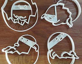 3D print model Gudetama Lazy Eggs cookie cutter