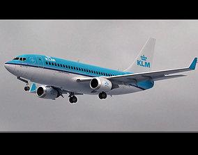 Boeing 737 KLM Airlines 3D model