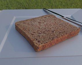 food Toast bread single piece 3D model