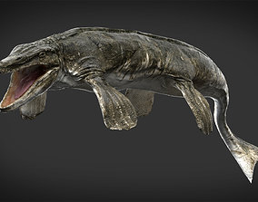 Tylosaurus 3D model Rigged rigged