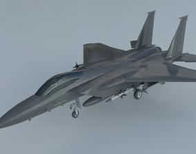 F-15 Eagle 3D asset low-poly