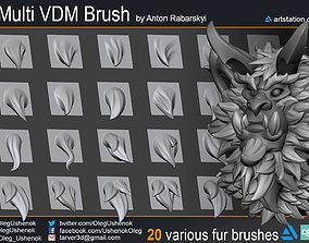 Fur Multi VDM Brush 3D model fur