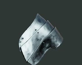 3D asset Medieval armor parts 001 - shoulder