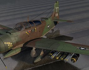 Douglas A-1E or AD-5 Skyraider 3D model