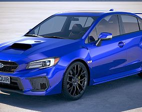 3D model Subaru WRX STI 2018