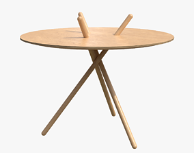 Micado Table-Oak standard lacquered 3D asset