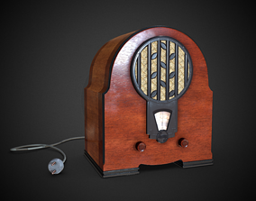 3D model 1933 Philips 634A Vintage Radio Low-poly