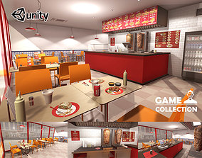 3D asset Kebab Restaurant Interior