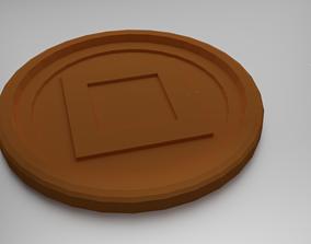 3D printable model Squares Coaster