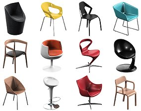 3D 12 Chair Pack Collection 3d