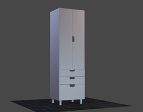 Wardrobe furniture architecture 3D