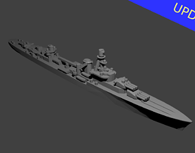 3D printable model French Cruiser Emile Bertin