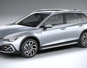 3D Volkswagen Golf Variant Alltrack 2021