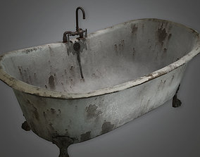 Old Bath Tub Antiques - ATQ - PBR Game Ready 3D model