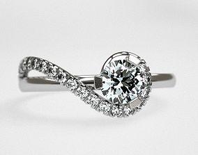 3D print model Sol engagement ring
