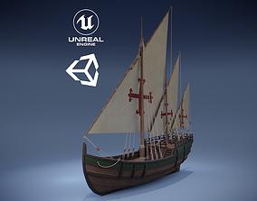 Caravel 3D asset