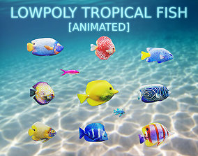 Tropical Fish Collection 3D asset animated