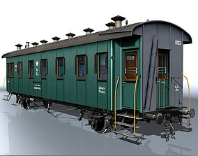 3D model Passenger carriage 2-axles