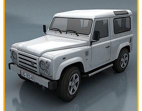 Land Rover Defender 3D model game-ready