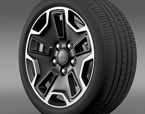 3D Jeep Wrangler Rubicon aniversary wheel