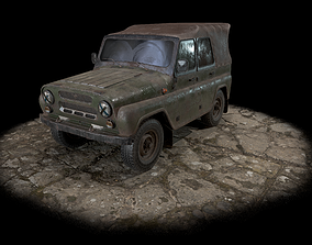3D asset UAZ 469