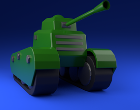 lowpoly panzer1 3D model