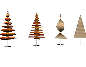 3D printable model Christmas and New Year presents tree 1