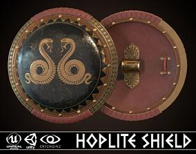 3D model Hoplite Shield Snakes