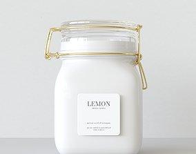 Aroma Candle Lemon 3D