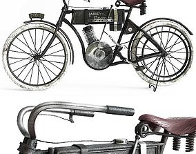 Motorbike 1906 year Harley-davidson 3D