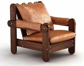 vintage mid century brazilian lounge chair 3d model