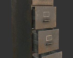 3D model File Cabinet Grey