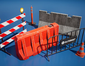 Traffic barriers 3D model realtime